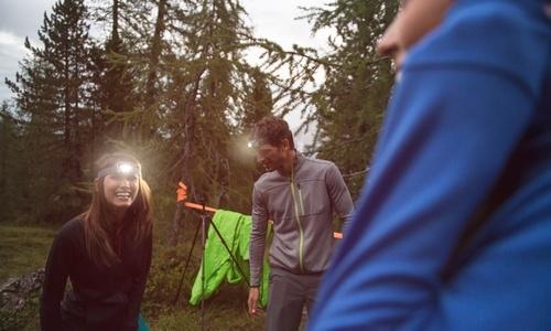 Stirnlampen und Taschenlampen