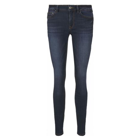 TOM TAILOR DENIM Damen Jona Extra Skinny Jeans mit recyceltem Polyester, braun, unifarben