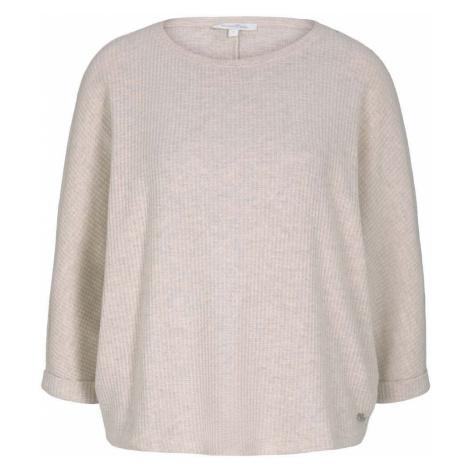 TOM TAILOR DENIM Damen T-Shirt mit Fledermausärmeln, beige