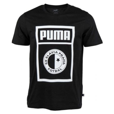 Puma SLAVIA PRAGUE GRAPHIC TEE schwarz - Herrenshirt