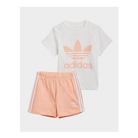Adidas SHORT TEE SET - White / Glow Pink, White / Glow Pink