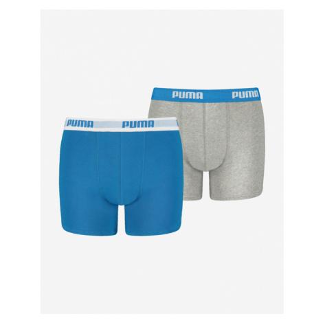 Puma Boxers 2 pcs kids Blau Grau