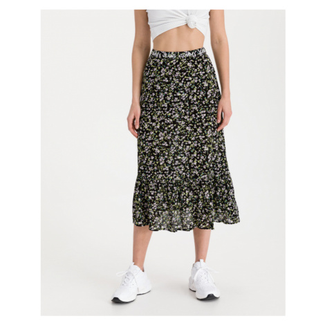 Tommy Jeans Tiered Floral Skirt Schwarz Tommy Hilfiger