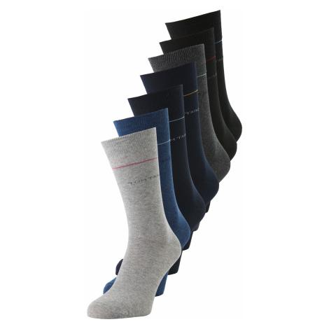 TOM TAILOR Herren Socken in einer 7-Tage-Box, grau, unifarben mit Print