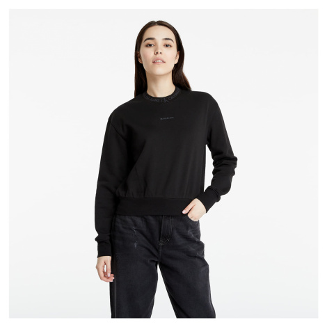 Calvin Klein Jeans Organic Cotton Logo Trim Sweatshirt Black