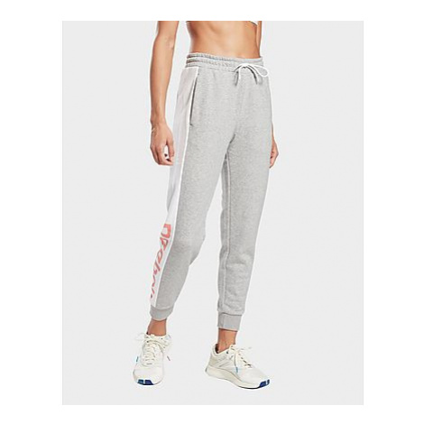Reebok linear logo french terry pants - Medium Grey Heather - Damen, Medium Grey Heather