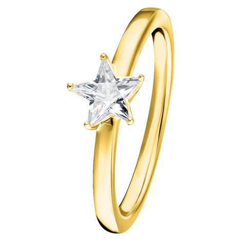 Thomas Sabo TR2270-414-14 Damen-Ring Funkelnder Stern Silber vergoldet