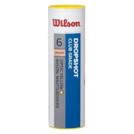Wilson DROPSHOT 6 TUBE YE - Badminton-Federball