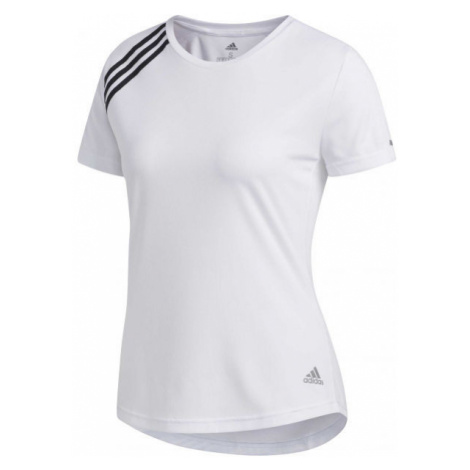 adidas RUN IT TEE 3S W weiß - Damen Sport Trikot