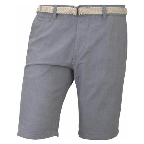 TOM TAILOR DENIM Herren Chino Shorts mit Gürtel, grau, unifarben