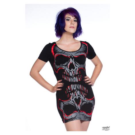 Damen Kleid (Tunika) BANNED - Red Mirror Skull - OBN134