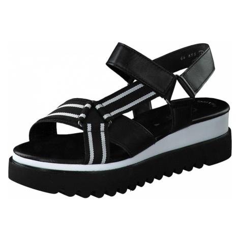Gabor Plateau Sandale Damen schwarz