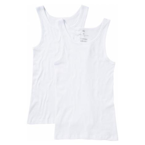 TOM TAILOR Herren Unterhemden im Doppelpack, weiß, unifarben