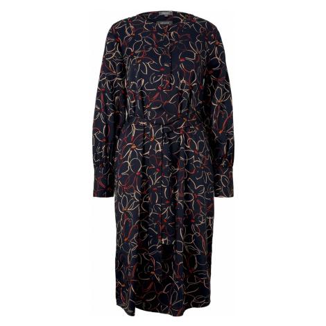 TOM TAILOR MINE TO FIVE Damen Midi Blusenkleid mit Blumenprint, blau