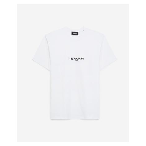 The Kooples - Weißes Baumwoll-T-Shirt mit The Kooples Logo - DAMEN
