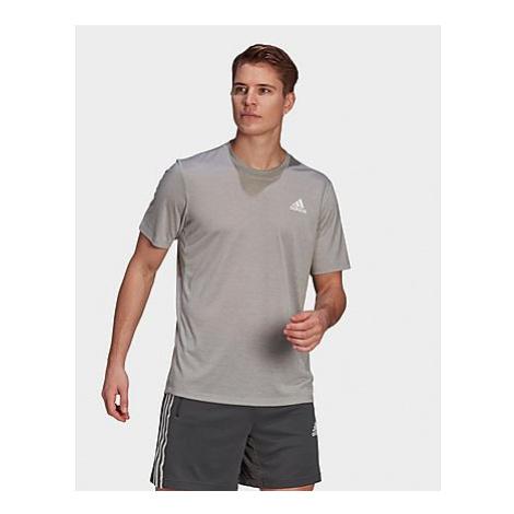 Adidas Primeblue Designed 2 Move Heathered Sport T-Shirt - Medium Grey Heather / White - Herren,