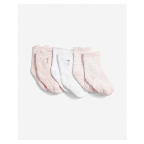 GAP Socks 3 pcs kids Weiß Beige