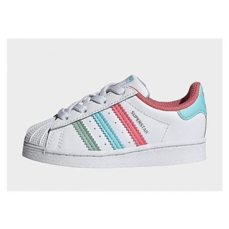 Adidas Originals Superstar Schuh - Cloud White / Hazy Rose / Hazy Sky, Cloud White / Hazy Rose /