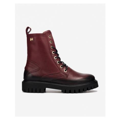 Rote worker boots für damen