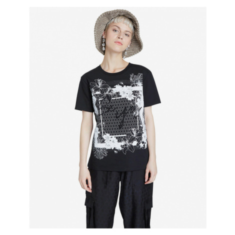 Desigual Arizona T-Shirt Schwarz Weiß