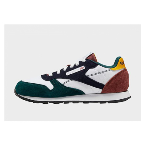 Reebok classic leather shoes - Cloud White / Vector Navy / Forest Green, Cloud White / Vector Na
