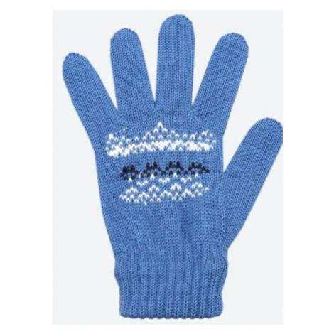 Kinder gestrickte Merino Handschuhe Kama RB203 107