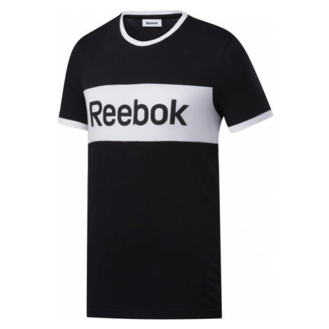Reebok TE LINEAR LOGO COLOR BLOCKED SS TEE schwarz - Herren Shirt