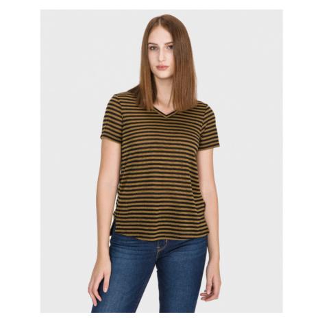 Scotch & Soda T-Shirt Schwarz Gold
