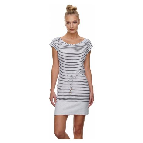 Ragwear Kleid Damen SOHO STRIPES 2111-20008 Weiß White 7000