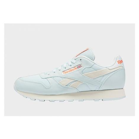 Reebok classic leather shoes - Chalk Blue / Classic White / Orange Flare - Damen, Chalk Blue / C