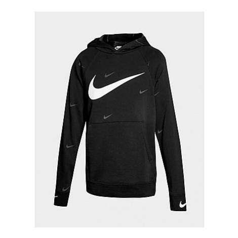 Nike Sportswear Swoosh Hoodie Kinder - Black/White - Kinder, Black/White