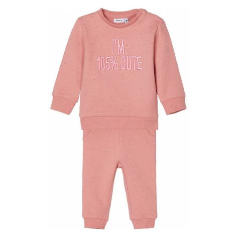 NAME IT Besticktes Sweatshirt Und Sweathose Damen Pink