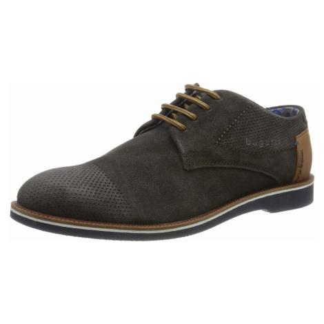 Herren Bugatti Business Schuhe grau Melchiore