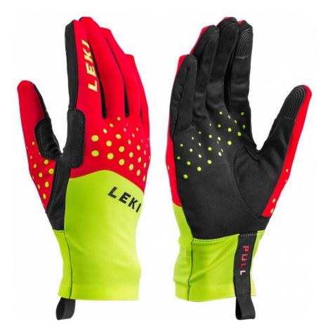 Langlaufen Handschuhe LEKI Nordic Race (643915301) rot / gelb / schwarz