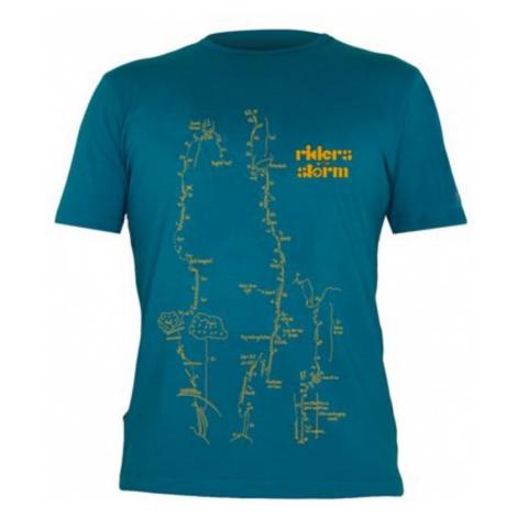 T-Shirt Direct Alpine Flash benzin / kamel (fahrer)