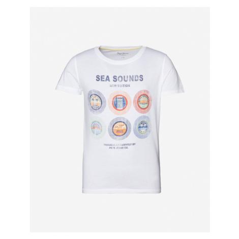 Pepe Jeans Aki Kinder  T‑Shirt Weiß