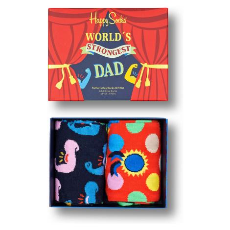 Happy Socks Geschenkbox FATHER´S DAY SOCKS GIFT SET 2-PACK XFAT02-0200 Mehrfarbig