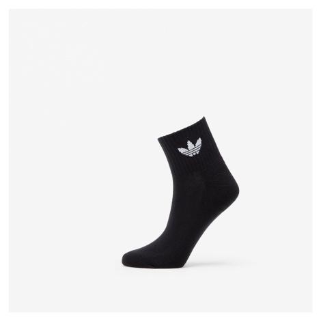 adidas 3 Pair Mid Ankle Socks Black