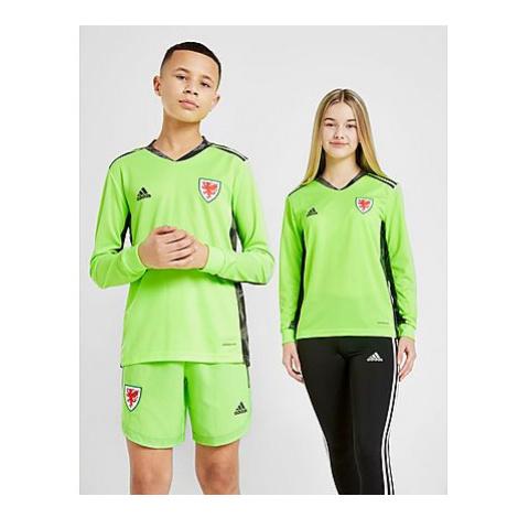 Adidas Wales 2020 Torwart T-Shirt Kinder - Yellow - Kinder, Yellow