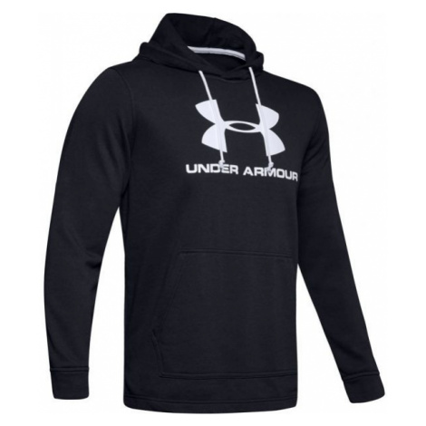 Under Armour SPORTSTYLE TERRY LOGO HOODIE schwarz - Herren Sweatshirt