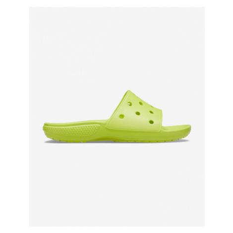 Crocs Classic Pantoffeln Grün Gelb
