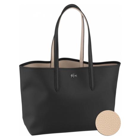 Lacoste Shopper Anna Shopping Bag 2142 Black/Warm Sand (innen: Beige) (14.7 Liter)