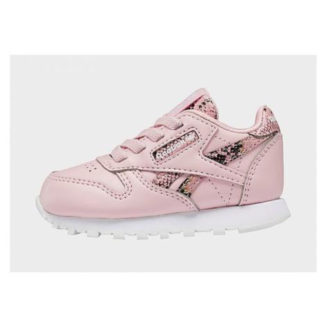 Reebok classic leather shoes, Pink Glow / Pink Glow / Core Black