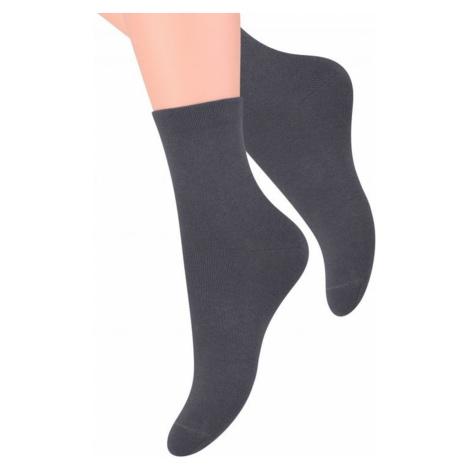 Damen Kniestrümpfe & Socken 037 dark grey Steven