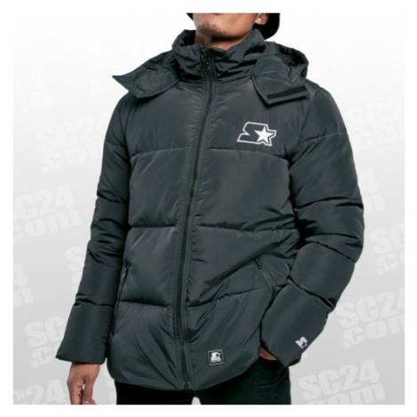 Starter Puffer Jacket schwarz Größe S