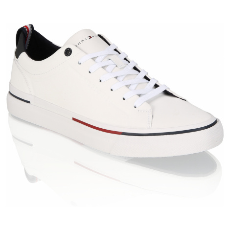 Tommy Hilfiger CORPORATE LEATHER SNEAKER 44.0 - weiss