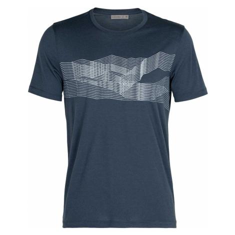 Icebreaker Tech Lite SS Crewe - St Anton Herren Funktions T-Shirt dunkelblau,serene blue Icebreaker Merino