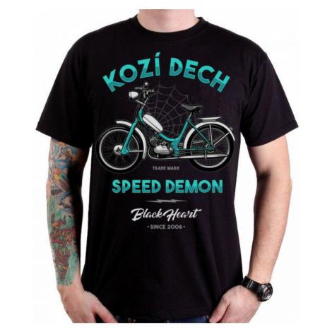 Street T-Shirt Männer - KOZÍ DECH - BLACK HEART - 001-0016-BLK L