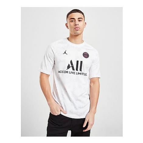 Jordan Paris Saint Germain Pre Match Shirt Herren - White/White/White/Black - Herren, White/Whit