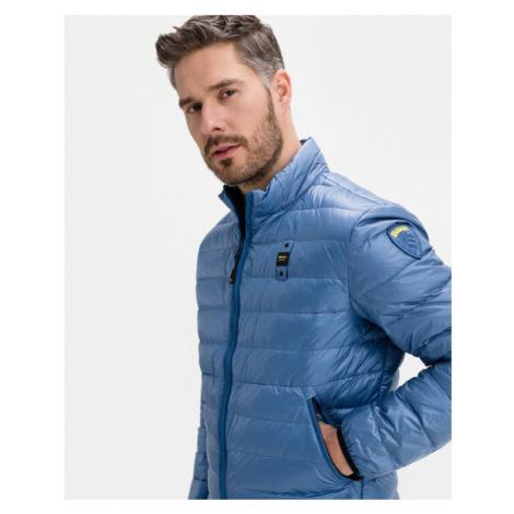Blauer Jacke Blau